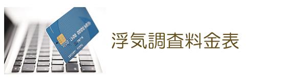 探偵松阪 浮気調査料金表